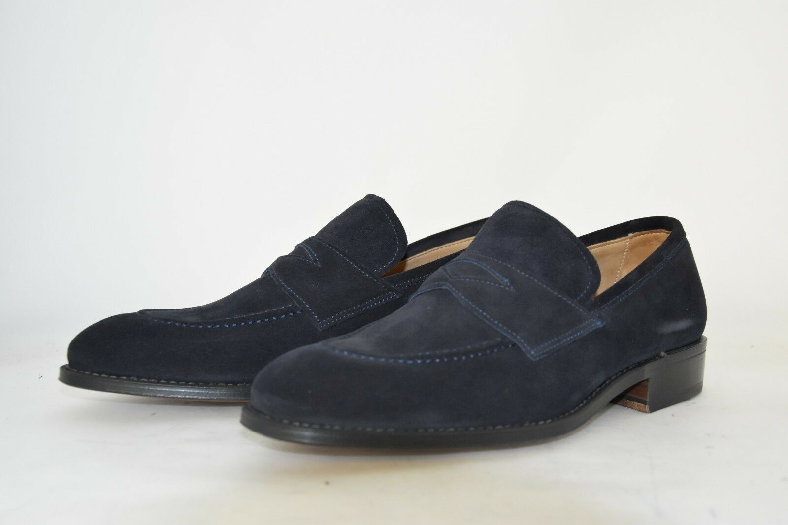 risparmia il 35% - 70% di sconto MAN-5½eu-6½us-PENNY LOAFER-MOCASSINO-blu LOAFER-MOCASSINO-blu LOAFER-MOCASSINO-blu SUEDE-CAMOSCIO NERO-LEATHER SOLE  l'intera rete più bassa