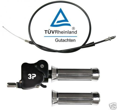 GAS dual grip con perizia ARCTIC CAT KTM QUAD ATV dualgasser pollice TÜV 3p