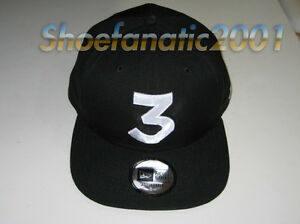 New Era Chance the Rapper Chance 3 Snapback Hat Black Embroidered ... 8958b4b5075