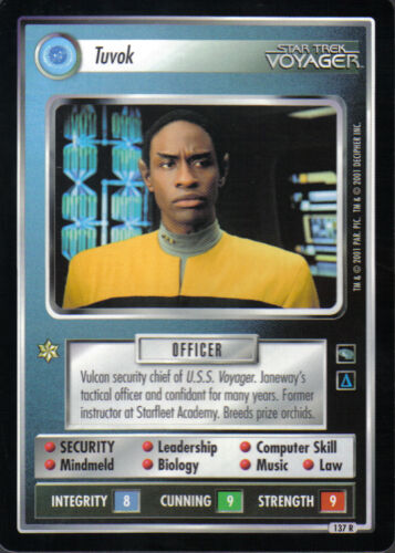 Star Trek Ccg Voyager Selten Karte Tuvok