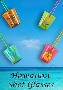 Hen-Night-Shot-Glasses-in-4-astd-colours-Hawaiian-theme-BBQ-Beach-party-Occasion
