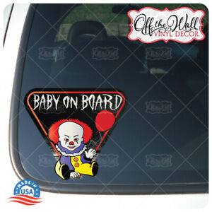 Baby-Pennywise-034-BABY-ON-BOARD-034-Sign-Vinyl-Decal-Sticker-034-1986-034