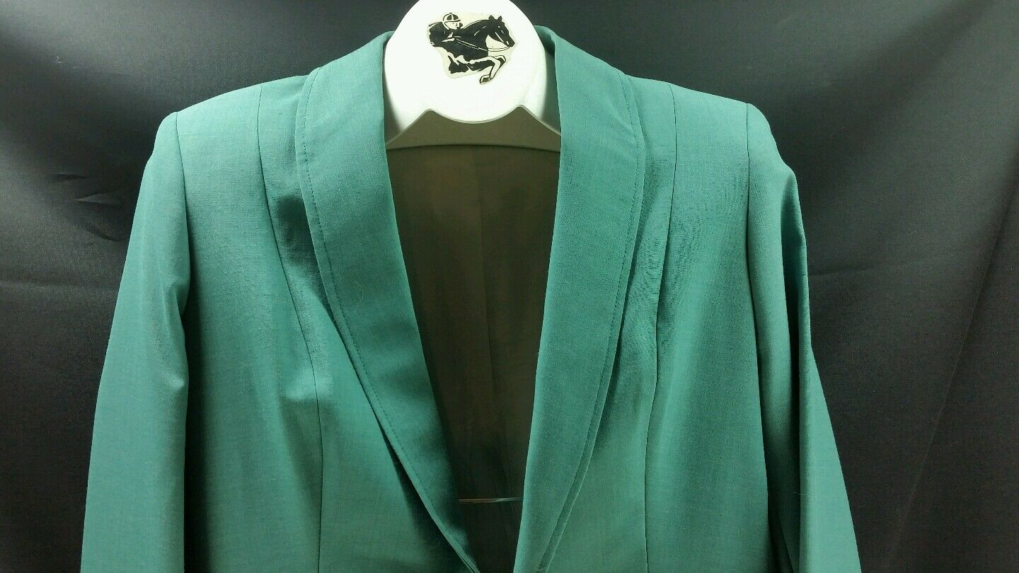 Reed Hill Ladies Saddleseat Day HEATHER GREEN Poly    Wool Blend size 16 USA  all products get up to 34% off