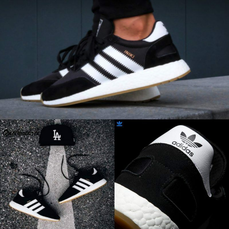 f7a2a388b5d Adidas Unisex Original INIKI Runner Black White Brown BY9727 Men Women NEW.  US MEN S SIZE. black