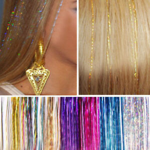 HD-JZ-Hair-Tinsel-Bling-Extension-Glitter-Sparkly-Highlight-Streak-Club-Party