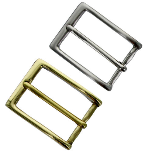 """Wide Silver or Gold Dress Belt Buckle Solid Brass Buckle fit/'s 1-1//8/"""" 30mm"""