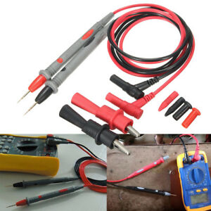 20A-Test-Lead-amp-Clamp-Probe-Cable-Multimeter-Agilent-Fluke-Ideal-PVC-Wire-NO-CLIP