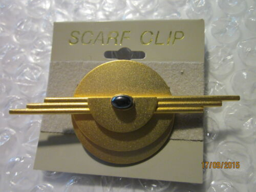 Schal-Clip-goldfarben matt-kl.dkl Stein