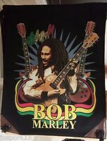 Bob Marley Multi Color AND Black/White Cinch Sack Backpack Bookbag