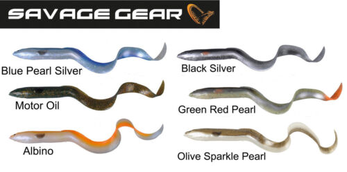 REAL EEL 3D Savage Gear LOSE BODY 15-20-30 or 40cm with jig head and stinger