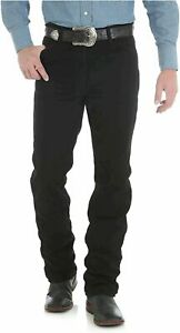 Wrangler-Men-039-s-0936-Cowboy-Cut-Slim-Fit-Jean-Shadow-Black-Size-36W-x-38L-VzRX