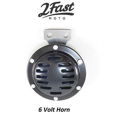 2FastMoto 12 Volt Horn 12v Street Sport Bike Black Chrome Chopper Kawasaki