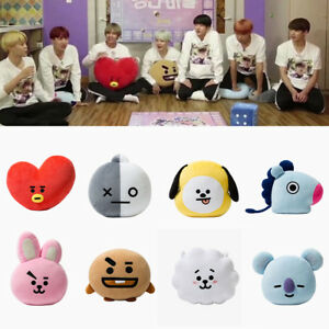 Plush Pillow Doll Cushion Toy For KPOP BTS BT21 TATA SHOOKY RJ SUGA COOKY JIMIN