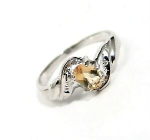 10K-Solid-White-Gold-Citrine-Ring-with-Diamonds-Size-7