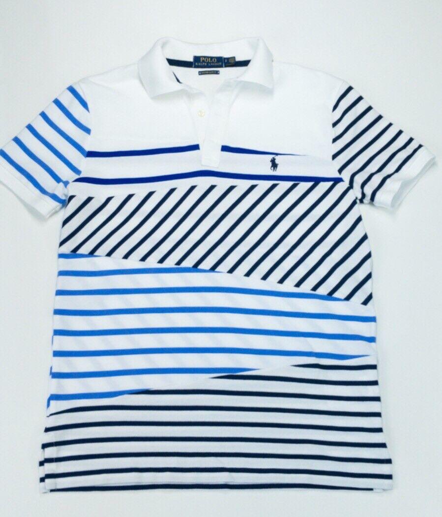 Ralph Lauren a righe in Edizione Limitata Custom Slim Fit Polo T Shirt