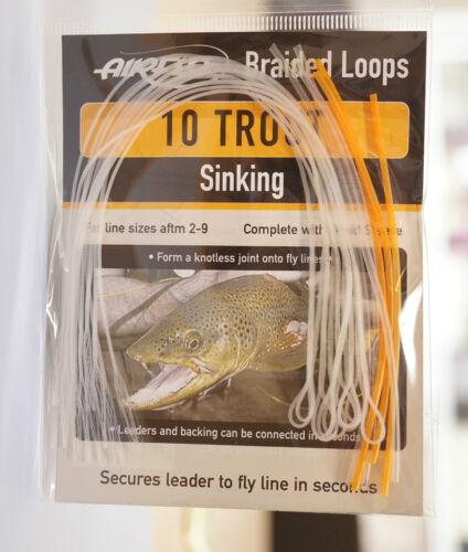 #9 TROUT SINKING AIRFLO Loops sinking 10 Stück Schnurklasse #2
