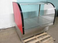 """DELFIELD"" COMMERCIAL LIGHTED CURVED GLASS DRY BAKERY MERCHANDISER DISPLAY CASE"