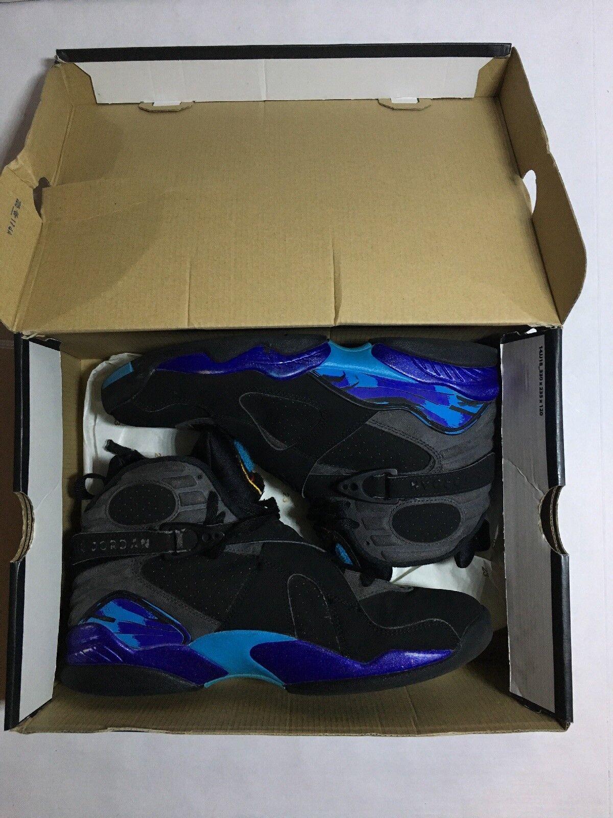 Nike Air Jordan Retro 8 Aqua 8,5 2015 Misura 8,5 Aqua Autentico Con Box ee2793