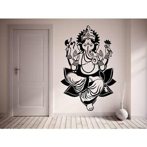 Ganesh Wall Sticker Lord Ganapati Vinyl Hindu God Decal Stencil Art ... d7d303af3
