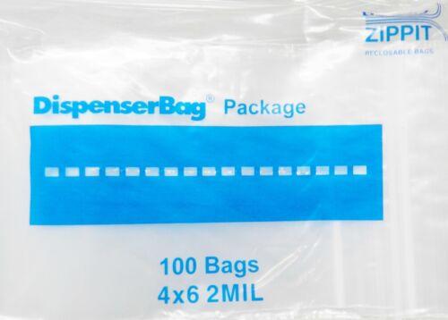 "1000 Ziplock Bags 4x6 Reclosable Clear Zip Lock 2mil 4/"" x 6/"" Reloc Zippit 1,000"