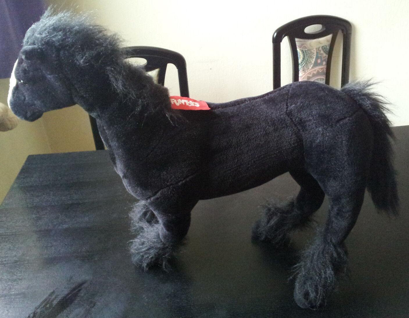 Schönes großes Plüschtier schwarzes Pferd Marke Funtoys