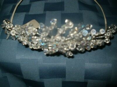 BRIDES, SWEET 16 TIARA/ CROWN HEADPIECE, CRYSTAL...BN