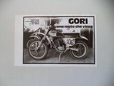 advertising Pubblicità 1975 MOTO GORI UNA MOTO CHE VINCE