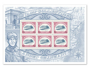 USPS-New-2-Stamp-Collecting-Inverted-Jenny-Souvenir-Sheet-of-6-Stamps