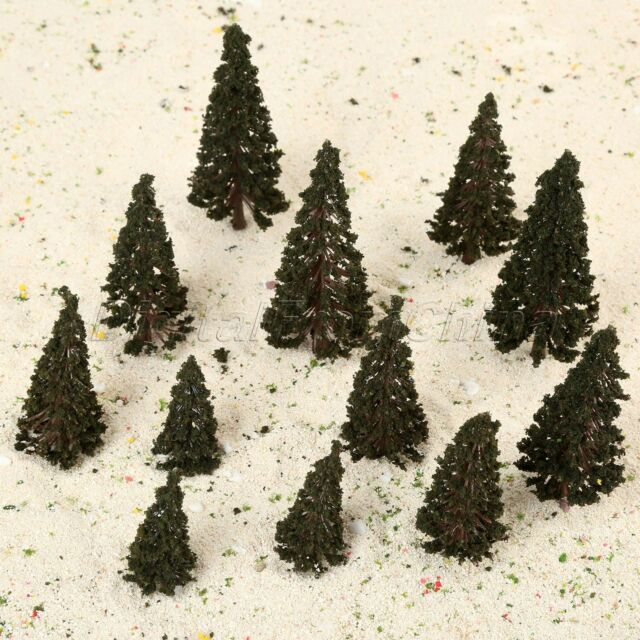 "33 model railroad SCENERY PINE TREES woodland scenics  2/""-4/"" TR1580"