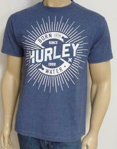43cdc83ea Hurley Do It Born From Water Graphic Tee Mens Blue Classic Fit T ...