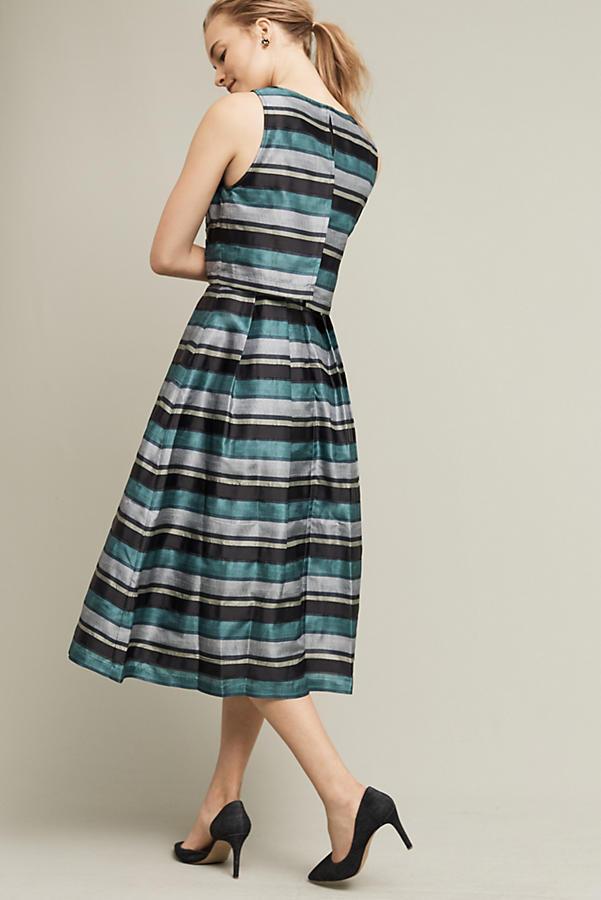 90fad66a0d15 NWT $348.00 Anthropologie Striped Forrester Dress By Pankaj & Nidhi Sz. 4    eBay