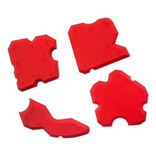 4pcs Silicone Sealant Spreader Profile Applicator Tile Fugi Grout Tool
