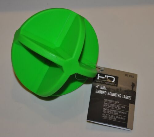 """4/"""" Round Green Ball Reactive Ground Bouncing Shooting Target High Visibility NEW"""