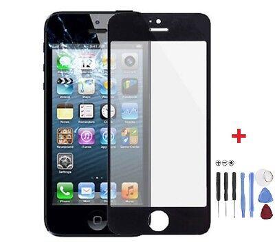 Frontglas Display Glas für Apple iPhone 5 5S Scheibe Schwarz Werkzeug Black
