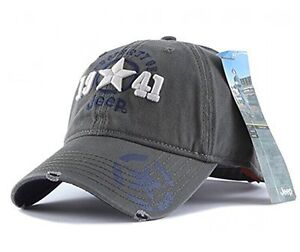 Jeep 1941 Hat Men/'s Unisex Grey Adjustable Embroidery Sport Baseball Ball Cap