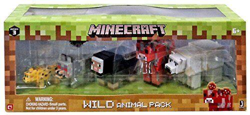 6 Pack Minecraft Wild Animal Action Figure