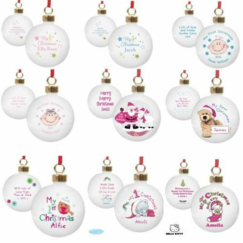 Dogs First Christmas Ornament.Personalised Babies First Christmas Tree Baubles 1st Xmas Tree Bauble Decoration