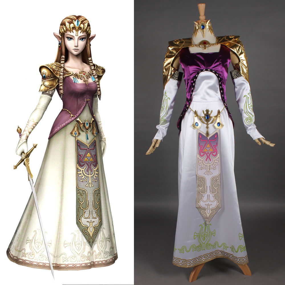 Legend of Zelda - Custom-Made Twilight Princess Cosplay Costume Women Dres