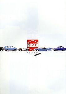 Busch-Praline-Katalog-Modellautos-1994-Prospekt-catalog-model-cars-brochure-Auto