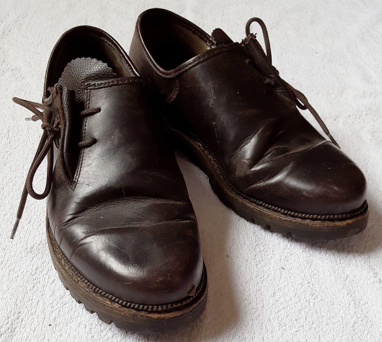 Meindl zapato bajo haferlschuhe Trachten zapatos casual zapatos talla: 39 marrón oscuro