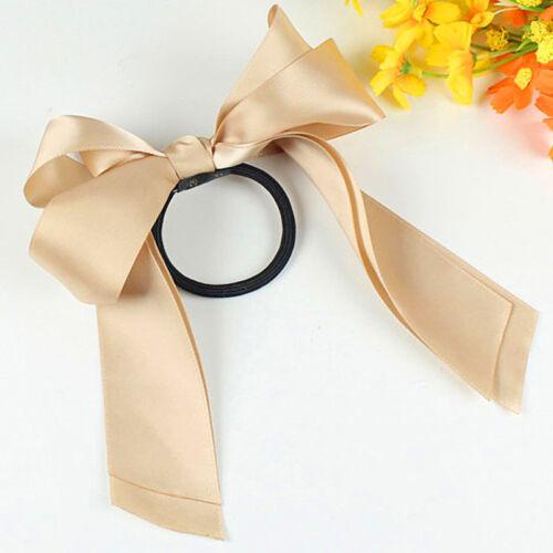 1 pcs Women Fashion Hot Ribbon Rope Cute Bow Elastic Hair Band Hair Accessories