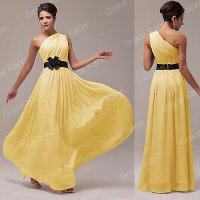 5Color Long Chiffon Wedding Evening Formal Party Ball Gown Prom Bridesmaid Dress
