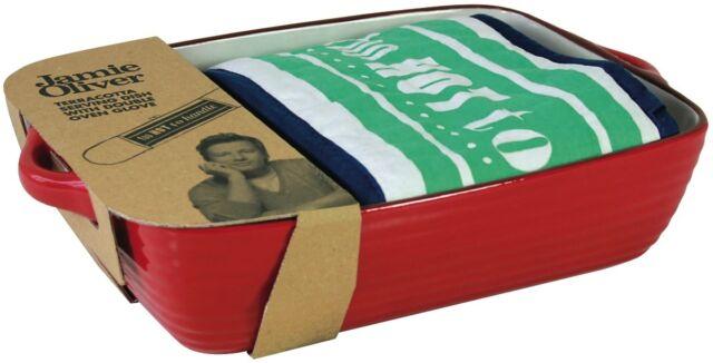 NEW Jamie Oliver Lasagne Dish & Glove 501107