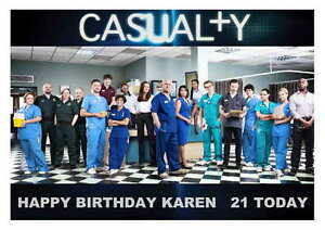 LARGE A5 GLOSSY PERSONALISED CASUALTY BIRTHDAY CARD