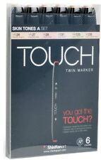 SHINHAN ART TOUCH TWIN MARKER 6 SET - SKIN TONES - Graphic Art + Illustration