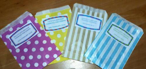 50 personalised sweetie bags Birthday Baby Shower Christening Holy Communion Hen