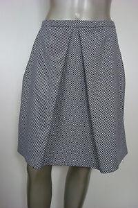 Anne-Klein-Women-039-s-Front-Pleat-Skirt-Blue-amp-White-Mini-Checker-10