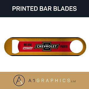 Chevrolet Vintage Bottle Opener Printed Stainless Steel Bar Blade