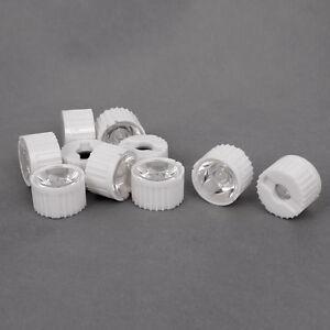 US-Stock-10pcs-30-Degree-LED-Lens-For-1W-3W-5W-Hight-Power-LED-With-Holder-White