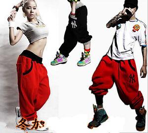 Mens-Womens-Casual-Harem-Baggy-Hip-Hop-Dance-Sport-Sweat-Pants-Trousers-Slacks